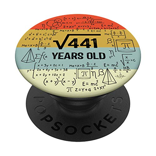 Square Root of 441 Math Lover 21 Years Old 21st Birthday PopSockets PopGrip: Swappable Grip for Phones & Tablets