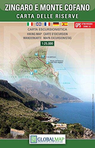 Sizilien Wanderkarte: Naturreservate Zingaro und Monte Cofano / Carta delle Riserve Zingaro e Monte Cofano 1:25.000 ( Nordost-Sizilien, San Vito Lo Capo, Castellammare del Golfo, Scopello, Sperone, Buseto) – LAC / Globalmap
