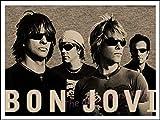 PHhomedecor Leinwanddrucke Poster,Bon Jovi Plakat Vintage