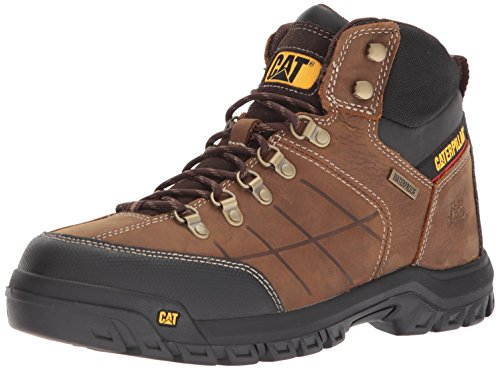 Caterpillar Men's Threshold Waterproof Industrial Boot, Brown, 11 M US