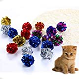 <span class='highlight'><span class='highlight'>Ruluti</span></span> 12Pcs/pack Cat Toys Multicolor Mylar Crinkle Ball Ring Paper Sound Toy for Cat Kitten Playing Interactive Pet Cat Supplies