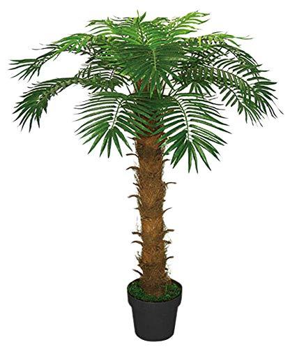 Decovego Palme Palmenbaum Königspalme Kokospalme Kunstpflanze Kunstbaum Künstliche Pflanze 140 cm