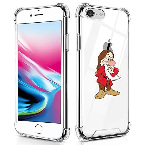 Disney Collection - Cover rigida per iPhone 7/8/SE2, motivo: Nani Biancaneve, antiurto, antigraffio, protezione militare in PC + TPU flessibile trasparente