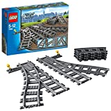 LEGO City - Puntos, Juguete de Contrucción de Vías de Tren para Complementar (7895)