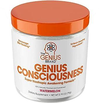 Genius Consciousness - Super Nootropic Brain Booster Supplement - Enhance Focus Boost Concentration & Improve Memory | Mind Enhancement with Alpha GPC & Lions Mane Mushroom for Neuro Energy & IQ