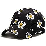 Articles de mode Daisy casquette de baseball femme version coréenne pleine impression chrysanthème chapeau coréen printemps et été crème solaire casquette de protection solaire Cadeau de vacances