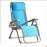 HUOQILIN Plegable reclinable Oficina Pausa for el Almuerzo sunbed la Silla del Coche de Playa Simple Acampar al Aire Libre Hamaca portátil, Azul, 200 kg de Carga XUAGMT