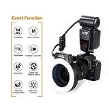 K&F Concept マクロリングフラッシュ リングストロボ マクロリングライト KF-150 TTL機能対応 Nikon/Canonデジタル一眼レフカメラに対応 レンズアダプター6枚付き (Canonカメラ適用)