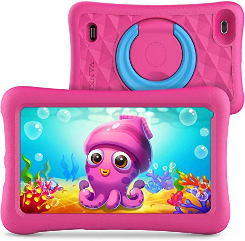 VANKYO MatrixPad Z1 Kids Tablet 7 inch, 32GB ROM, COPPA Certified KIDOZ& Google Play Pre-Installed with Kid-Proof Case, Wi-Fi, Blue Shade, Pink