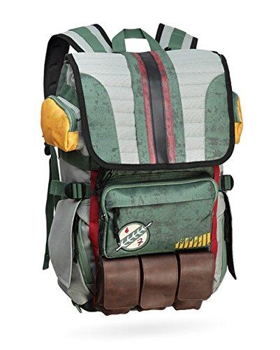 Wellgift Boba Rucksack Tasche Cosplay, Erwachsene & Jugendliche Grün Wander Rucksack, Studenten Tasche Laptop Schulter Daypack