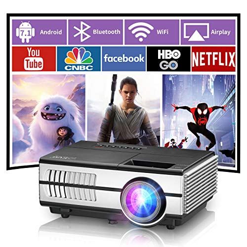Bluetooth Wireless Projector Portable Led WiFi Outdoor Movie Smart Projector Home Theater Airplay for iPhone Android Dvd Tv Stick Laptop Ps5 Usb Hdmi