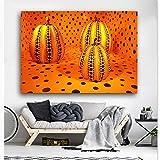 KWzEQ Imprimir en Lienzo póster de imágenes de Calabaza y Arte Decorativo para Sala de estar70x105cmPintura sin Marco