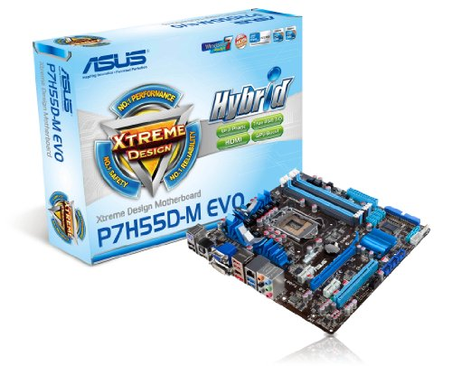 ASUS P7H55D-M EVO Mainboard Sockel LGA1156 Micro ATX DDR3 Speicher