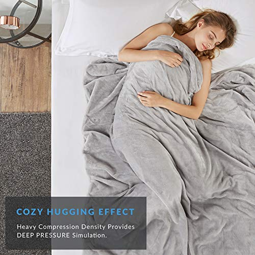 Degrees Of Comfort Weighted Blanket Queen Size for Adults – Even Weight Distribution with Premium Glass Beads | Warm Heavy Blanket for One Person use (225~275lbs) Full Queen Bed 60x80 25lbs Grey