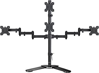 suptek Quad LED LCD Monitor Stand up Free-Standing Desk Stand Extra Tall 31.5