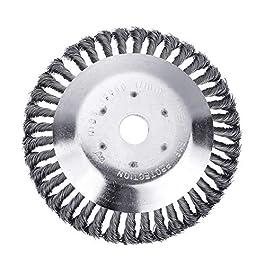 Brosse de rechange en acier au manganèse pour tondeuse à gazon – Tête anti-rouille – Pour les surfaces adultes, l'herbe…
