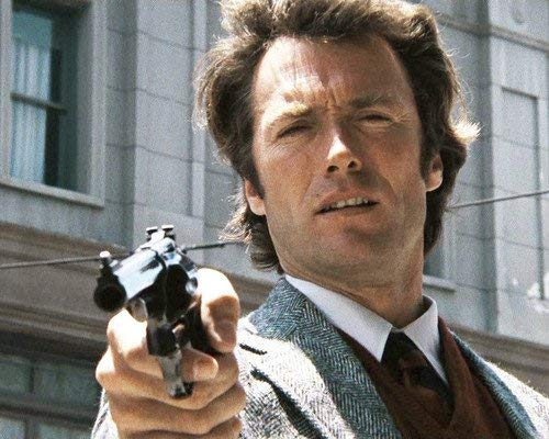 Clint Eastwood in Dirty Harry classic pointing gun 'Do you Feel Lucky 11x14 Promotional Photograph