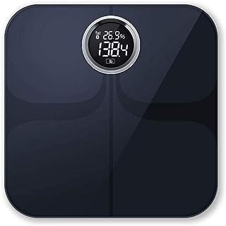 LKNJLL Inteligente escala de grasa corporal, índice de masa corporal Báscula digital inalámbrico, monitor de composición corporal con el teléfono inteligente de aplicaciones for el peso corporal, gras