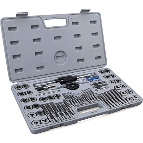 60-Piece Master Tap and Die Set - Include Both SAE Inch and Metric Sizes, Coarse and Fine Threads |...