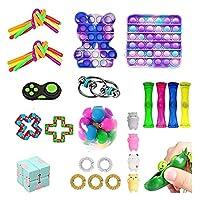 24ピン安いフィジットのおもちゃのセット、ストレスリリーフの指の訓練ゲームキット、ストレス不安のための官能的療法のおもちゃ、子供のための贈り物、&成人の贈り物、ランダムな色(24pcs6) (Color : 24pcs6)