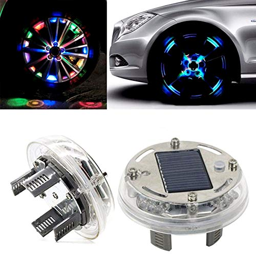 Comtervi Auto 7 colores Solar Energía Flash Auto Rueda Rueda Válvula Tapa luces LED Radbeleuchtung Luz Llanta Luz Tunin Auto Llantas Iluminación
