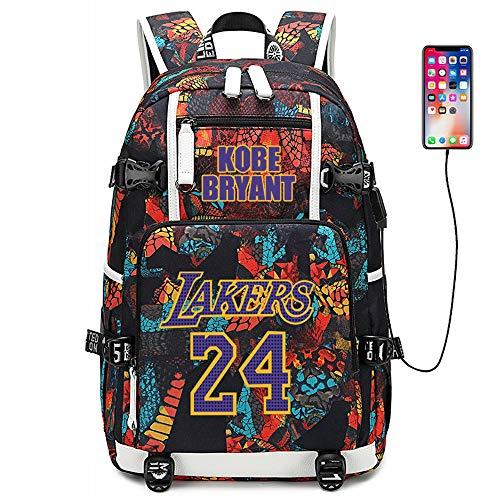Joueur de Basket-Ball Star Kobe Bryant Sac à Dos Multifonction Voyage étudiant Sac à Dos Fans Bookbag pour Hommes Femmes (Style 1)