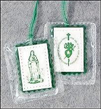 US Gifts Green Scapulars - Laminated - pk/12