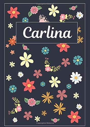 Carlina: Taccuino | Diario | Sketchbook | 120 pagine | A4 | Bianco | Idee regalo