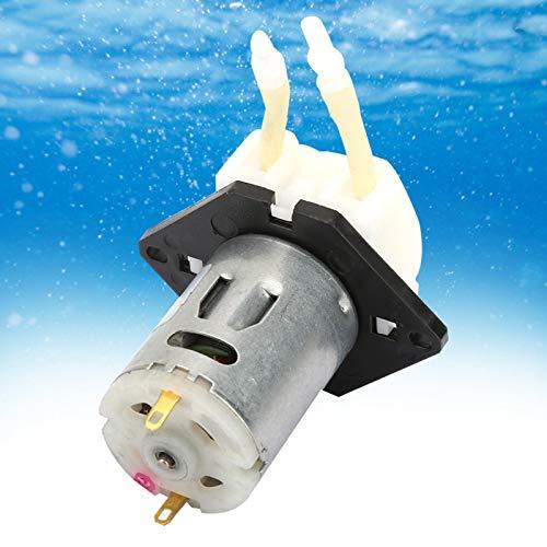 DAUERHAFT Bomba peristáltica autocebante sin Tensor de Flujo Constante 2 * 4 mm para análisis de Laboratorio para experimentos(White)