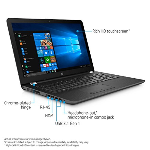 "HP 15.6"" HD Touchscreen Notebook , 8th Gen Intel Core i7-8550U Processor up to 4.00 GHz, 8GB DDR4, 256 GB M.2 SSD, DVD RW, Webcam, Bluetooth, Windows 10 Home"