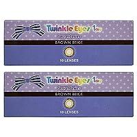 トゥインクルアイズ シークレット シリーズ TwinkleEyes 1day seacret series ワンデー 【カラー】ブラウンベージュ 【PWR】-3.00 10枚入 2箱