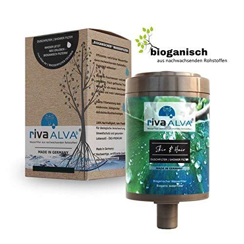 rivaALVA Filter Skin & Hair Duschfilter Ersatzkartusche | Wasserfilter für Haut und Haar| 100% Biologisch, Plastikfrei | Filtert Bakterien, Mikroplastik, Antibiotika