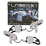 Laser X - Blaster, per giocare epiche battaglie Indoor e Outdoor con 2 Laser Blaster, 2 Ricevitori, Luci e Suoni, colpisci fino a 60 metri, per bambini a partire dai 6 anni, Giochi Preziosi, LAE00010