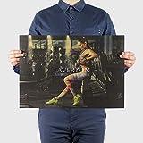 zxddzl Modelo Masculino musculoso - Gimnasio/Bar Kraft Cartel Pintura Decorativa...