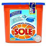Sole Set 6 Lavatrice 18 Perle Eco dosi gelcap detersivo per Il bucato, Multicolore, Unica
