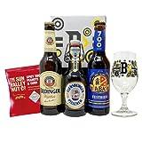 German Breweries Craft Beer Case Gift Set With Official Beer Hunter Glass (Erdinger, Flensburger & ABK Hells)