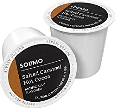 Amazon Brand - 24 Ct. Solimo Hot Cocoa Pods, Salted Caramel Flavored, Compatible with 2.0 K-Cup Brewers