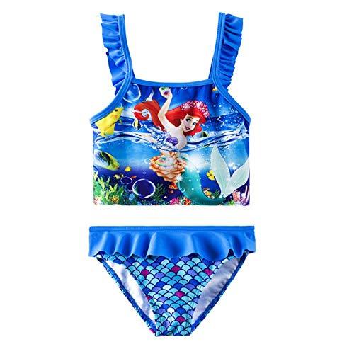 Chica en traje de baño sirena i traje para dos piezas trajes de baño con volantes pequeña escala de sirena para la niña niño
