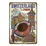 FFFPANDA American Cites Poster Länder Reisen Metall Zinn