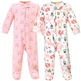 Hudson Baby Unisex Baby Premium Quilted Zipper Sleep and Play, Girl Forest, 6-9 Months