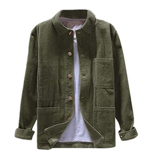 N\P Chaqueta para hombre con capucha y bolsillos de color sólido de manga larga. verde XXXL