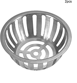 2Pcs Stainless Steel Round Shape Anti-blocking Roof Drain Floor Drain for Garden Balcony(125mm/5in)
