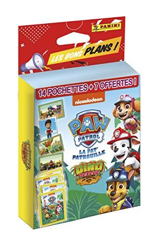 Panini France SA-Blister 14 Pochettes + 7 offertes OP Les Bons Plans Pat Patrouille Stickers, 004071KBF21