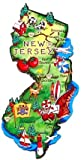 New Jersey Magnet - Large Map, New Jersey Magnets, New Jersey Souvenirs, New Jersey Gifts