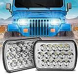 H6054 Led Headlights,Wowtome Rectangle 5x7 Led Headlights 7x6 Led Headlights Hi/Low Sealed Beam for Jeep Wrangler YJ XJ Chevy Blazer Express Van/Cherokee Truck Ford E250 Van 6054 H5054 H6054LL