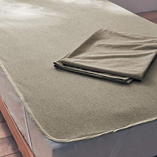 [ベルメゾン] 防水シーツ 同色 2枚 セット パイル素材 おねしょシーツ ベージュ シングル