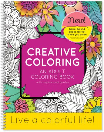 SDI Creative Coloring - an Adult Coloring Book with Inspirational Quotes - 8.5' x 11' Live a Colorful Life!