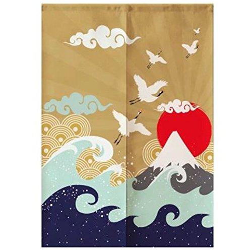 LUNA VOW Sushi Bar Decoration Japanese Style Curtains Door Hallway Hanging Curtains 33.46x47.24 Inch (A8)