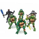 6-Piece Set of New Teenage Mutant Ninja Turtles TMNT Action Figure-Urban Hero Turtle Toy Set-Teenage Mutant Ninja Turtle Action Figure Set