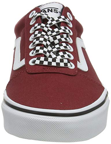 Vans Ward Canvas, Scarpe da Ginnastica Uomo, Rosso ((Checker Lace) Rosewood/White W9Z), 42 EU